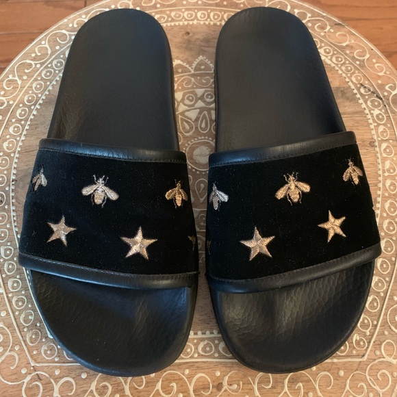 Gucci Shoes - GUCCI pursuit embroidered BEES AND STARS sandals